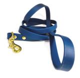 Navy Blue Vegan Leather Leash