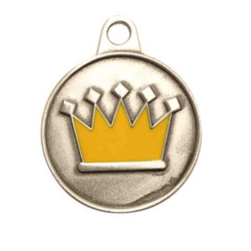 crown ID tag. Silver finish only