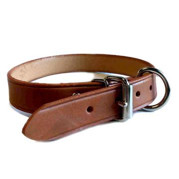 Mocha Leather collar