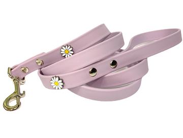 lilac vegan leather leash