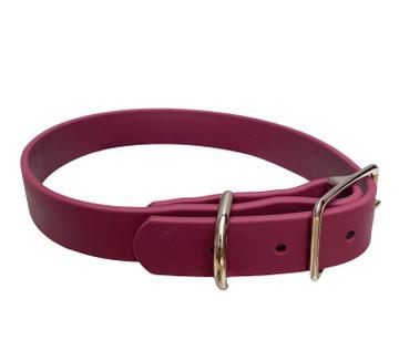 Burgundy Vegan Leather Collar