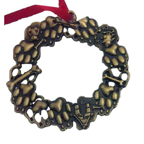 Wreath Brass Ornament