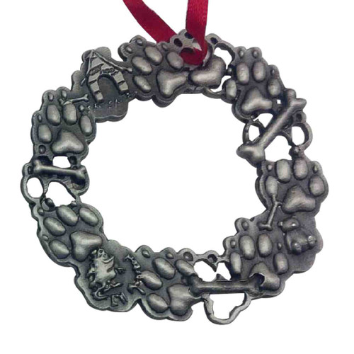 Wreath Silver Ornament