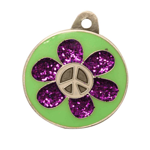 Flower Power ID Tag - Free Shipping