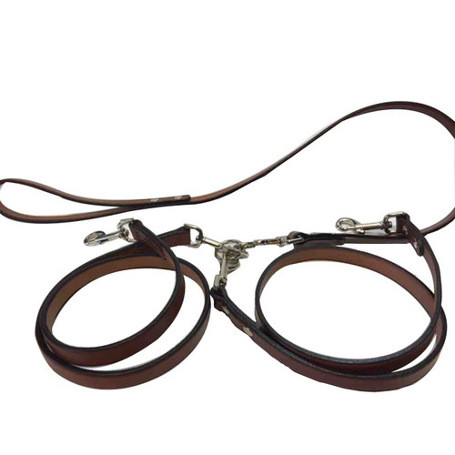 2 Dog Leather Leads