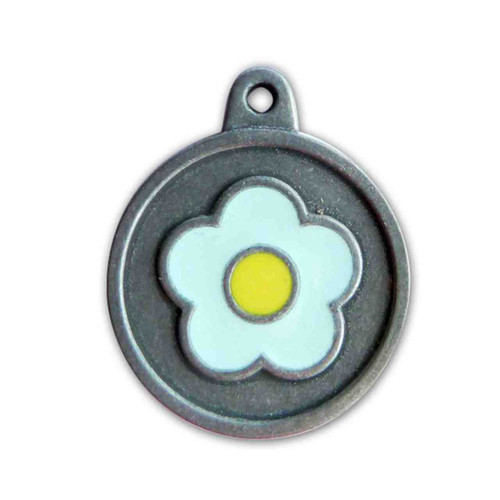 Blue Flower ID Tag - Free Shipping