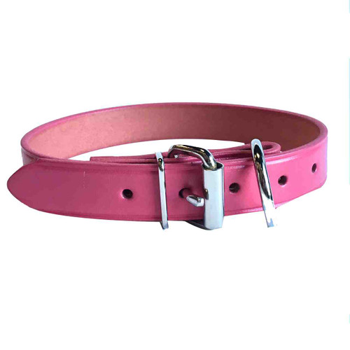 Hot Pink Leather Collar