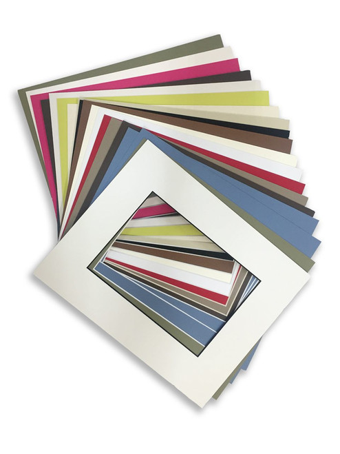 8x10 Mats for 5x7 photos - 25 Variety Pack