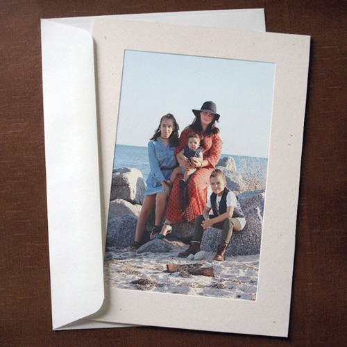 Natural Flax Photo Insert Cards - 10 Pack