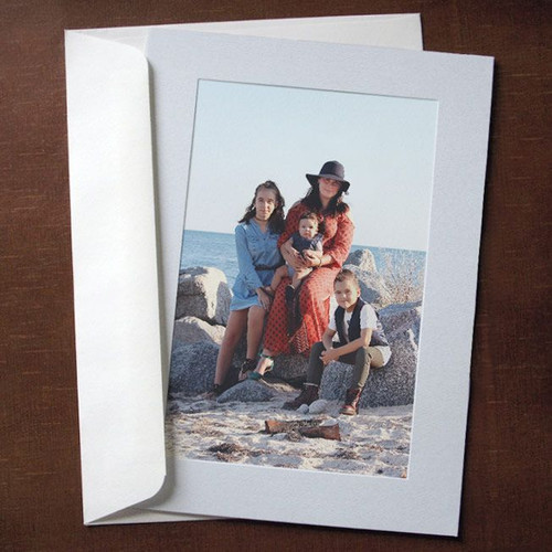 Light Gray Photo Insert Cards - 10 Pack