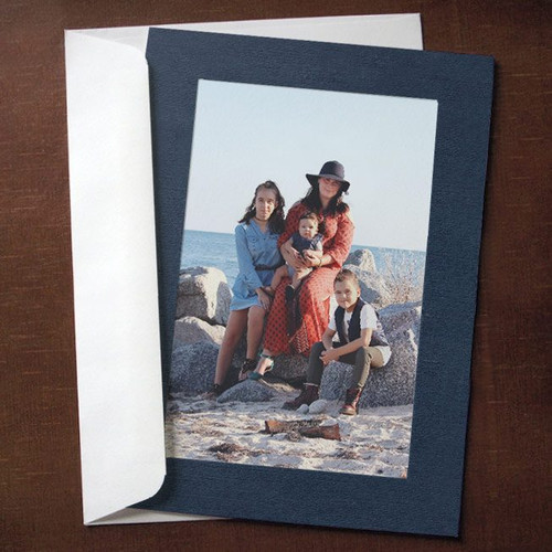 Navy Blue Photo Insert Cards - 10 Pack