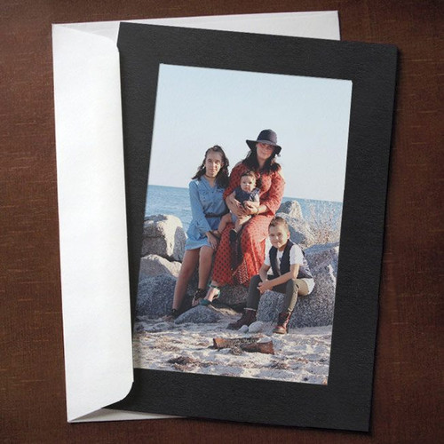 Black Photo Insert Cards - 10 Pack