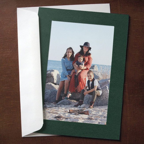 Forest Green Photo Insert Cards - 10 Pack