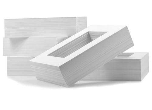8x10 Standard White Single Mat Board - 100 Pack