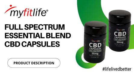 FULL SPECTRUM ESSENTIAL BLEND CBD CAPSULES by MY FIT LIFE