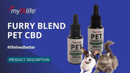 FURRY BLEND PET CBD PURE CRYSTALLINE TINCTURE by MY FIT LIFE