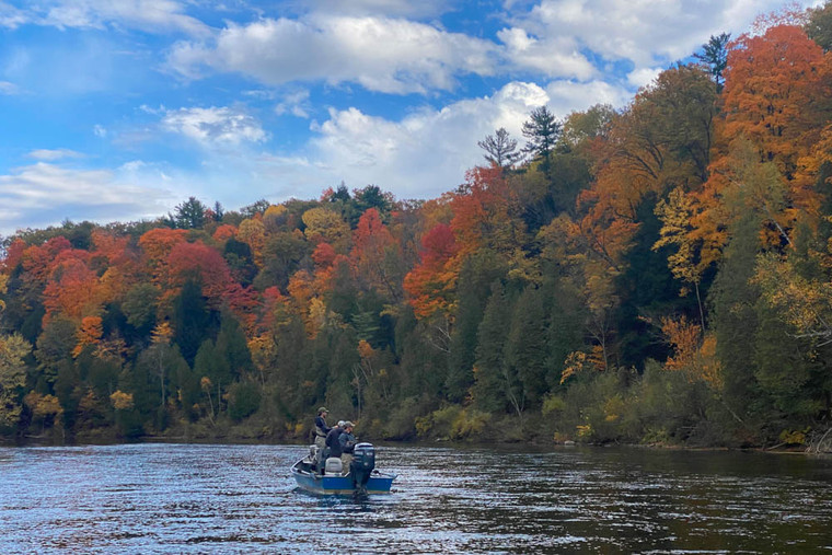 Fly fishing on the beautiful Muskegon River