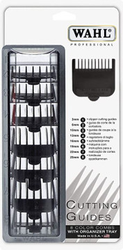 Wahl Clipper Attachment Set 1 - 8 Black with Tray- USA made