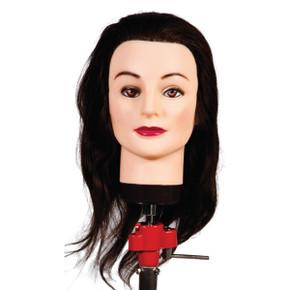Nadia Brown 35 - 40cm Human Hair Mannequin Head