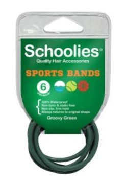 Schoolies Sports Bands 6 Pack - Assorted Colours