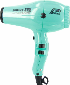 Parlux 385 Power Light Ceramic and Ionic Hair Dryer - Aquamarine With Bonus Thermal Brush