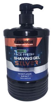 X- Fashion Face Fresh Shaving Silver Gel Black - 1L