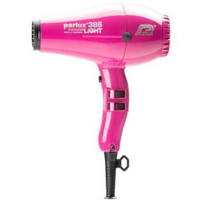 Parlux 385 Power Light Ceramic and Ionic Hair Dryer - Fushia With Bonus Thermal Brush