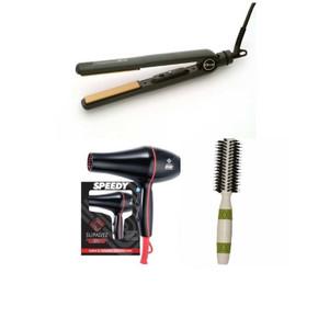 Trio Pack Deal of Speedy Dryer - Diva Straightener and Thermal Brush