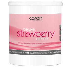 Caron Deluxe Strawberry Creme Hard Wax Microwaveable - 800g