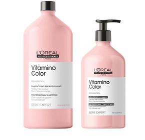L'Oreal Professional Serie Expert Vitamino Color Shampoo 1.5L & Conditioner 750ml Duo Pack