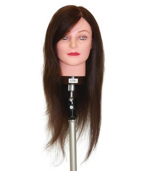 Lisa Brown 50-55 cm Human Hair Mannequin Head