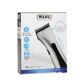 Wahl Beretto Pro Lithium Silver Cordless Clipper -USA Made