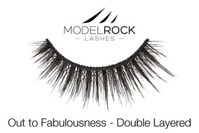 MODELROCK Lashes Out to Fabulousness - Double Layered Lashes