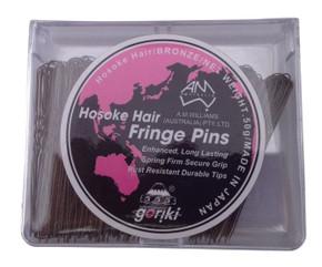 Hosoke 555 Fine Fringe Pins  Black 50g Made In Japan