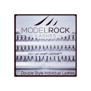MODELROCK Lashes Double Style Individuals - Extra Long Knot Free