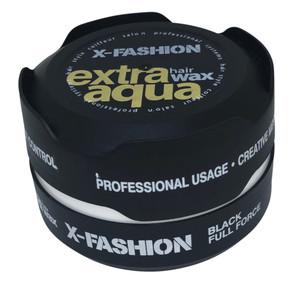 X-Fashion Extra Aqua Hair Wax Black Full Force - 150ml