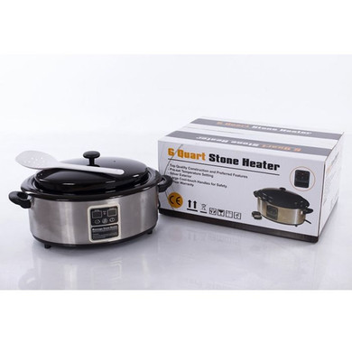 Hot Stone Heater 6 Quart Stone Massage Warmer Heating Device