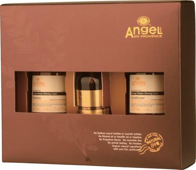 Angel Orange Flower Shinning Colour Hair Gift Pack With Bonus Thermal Brush