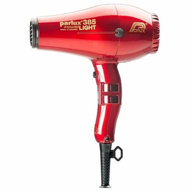 Parlux 385 Power Light Ceramic and Ionic Hair Dryer - Red With Bonus Thermal Brush