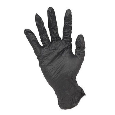 Black Nitrile Gloves 100pcs Pack - Medium