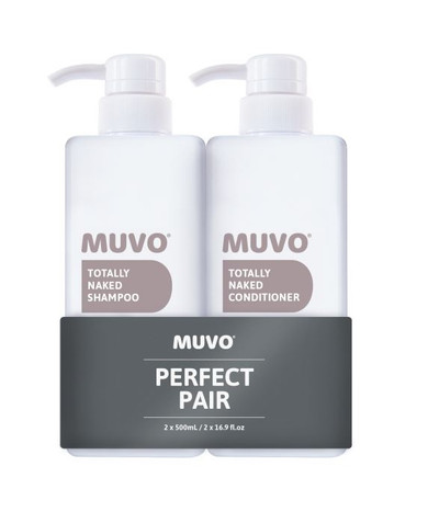 MUVO Professional Totally Naked Shampoo & Conditioner Duo Pack - 500ml