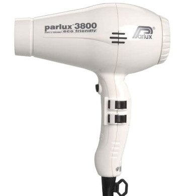 Parlux 3800 Eco Friendly Ionic & Ceramic Dryer –  White