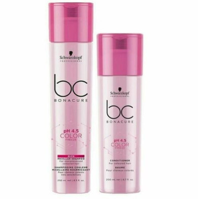 Schwarzkopf BC Bonacure PH 4.5 Color Freeze Shampoo And Condtioner DUO