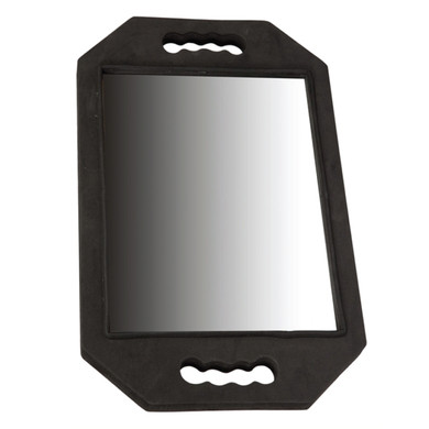 Rubber Black Hand Mirror