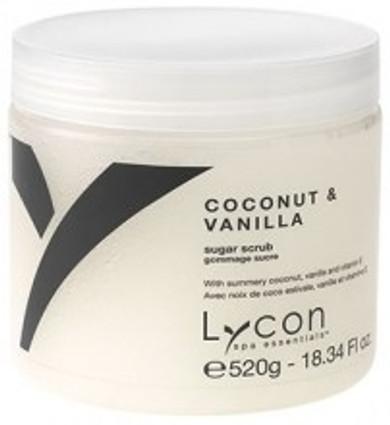 Lycon Spa Essentials Coconut and Vanilla Oil Free Sugar Scrub - 520g