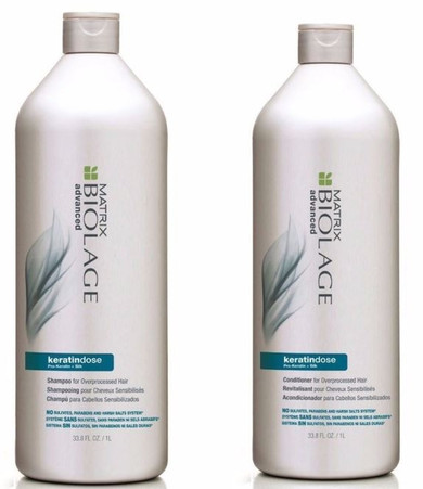 Matrix Biolage Advanced KeratinDose Shampoo & Conditioner Duo Pack - 1L