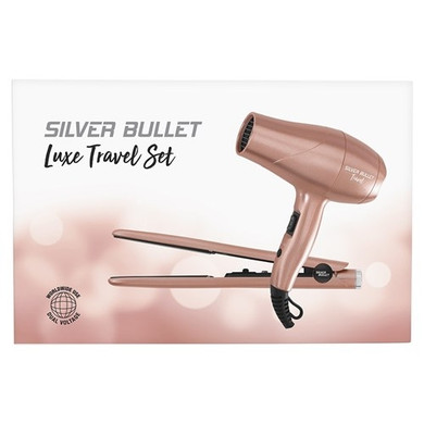 Silver Bullet Luxe Travel Set Hair Dryer and Straighteners - Rose Gold