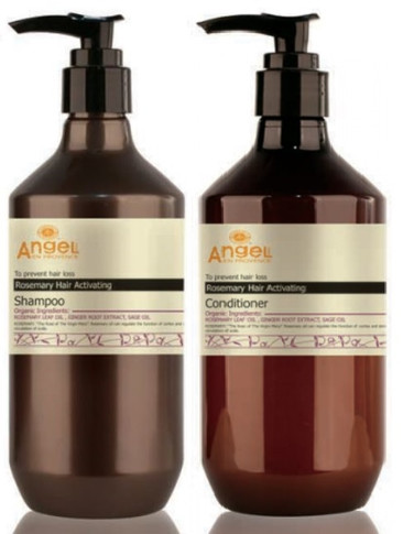Angel En Provence Rosemary Hair Activating Shampoo & Conditioner 400Ml DUO