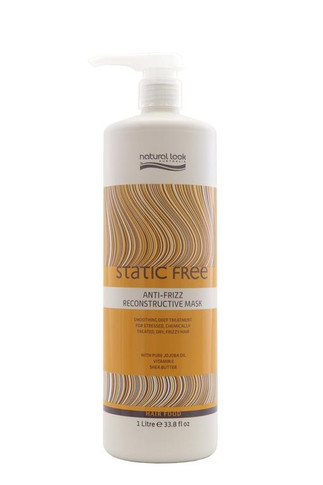 Natural Look Static Free Anti-Frizz Reconstructive Mask - 1000ml