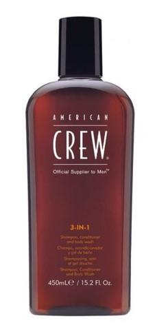 American Crew Classic 3-In-1 Shampoo, Conditioner And Body Wash 450ml